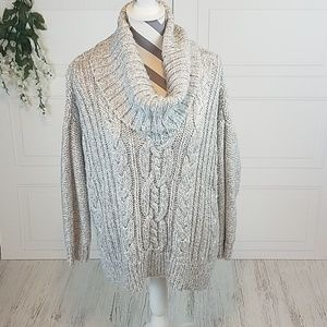 Jennifer Lopez Slouchy Cowl Neck Sweater